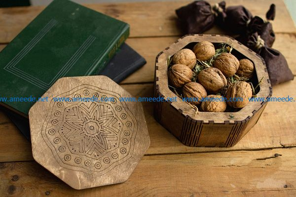 chestnut box file cdr and dxf free vector download for Laser cut