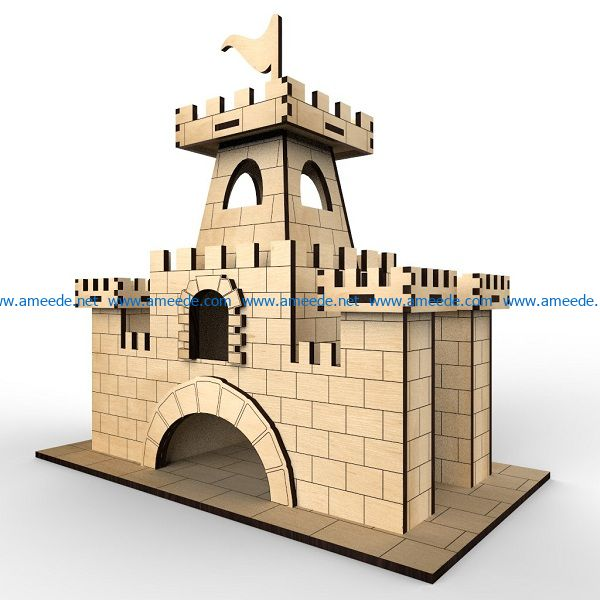city gate file cdr and dxf free vector download for Laser cut