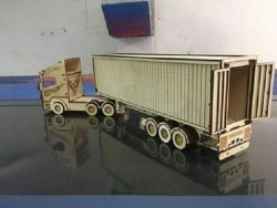 container truck file cdr and dxf free vector download for Laser cut