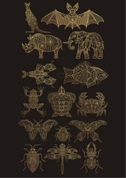 decor animals set file cdr and dxf free vector download for print or laser engraving machines