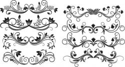 decor elements set file cdr and dxf free vector download for print or laser engraving machines