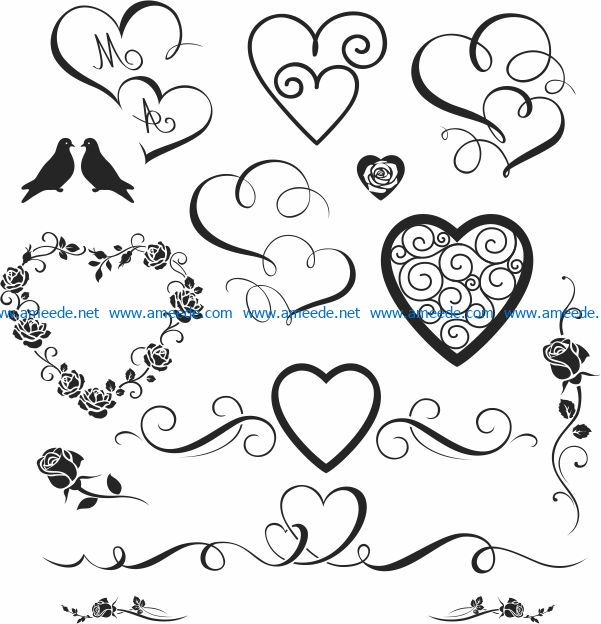 decorating the wedding file cdr and dxf free vector download for print or laser engraving machines