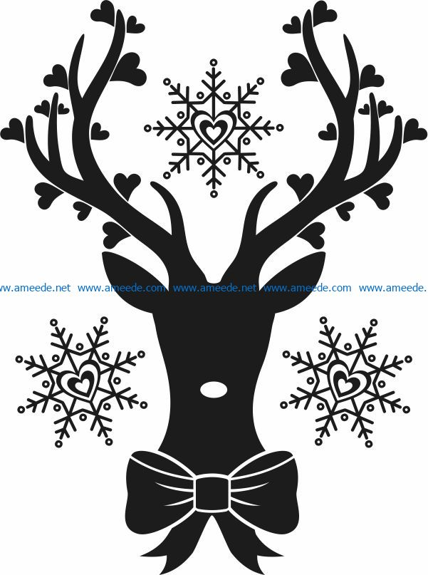 deer in love file cdr and dxf free vector download for Laser cut Plasma file Decal