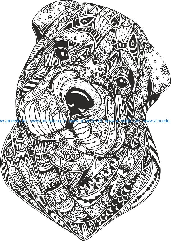 dog black file cdr and dxf free vector download for print or laser engraving machines