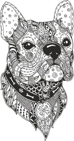 dog black vector file cdr and dxf free vector download for print or laser engraving machines