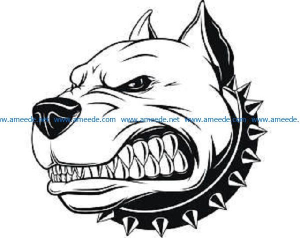 dog face file cdr and dxf free vector download for print or laser engraving machines