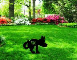 dog on the grass file cdr and dxf free vector download for Laser cut Plasma