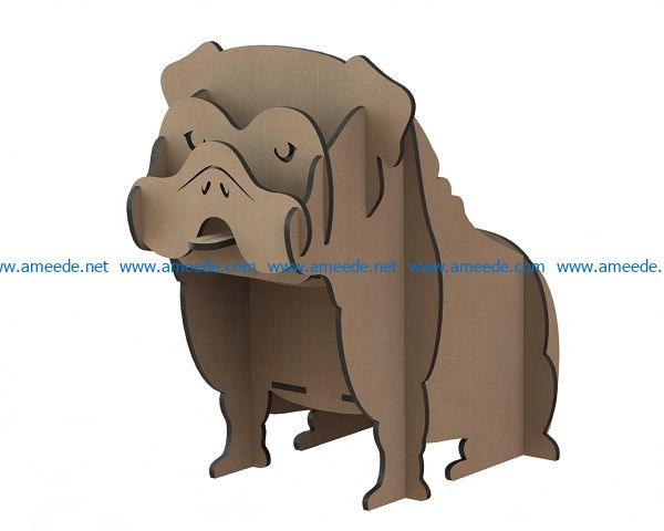 dog with wooden puzzle pieces file cdr and dxf free vector download for Laser cut