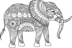 elephant black vector file cdr and dxf free vector download for print or laser engraving machines