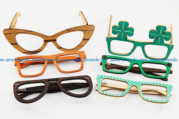 eyeglass file cdr and dxf free vector download for Laser cut