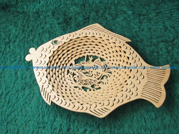 fish plate file cdr and dxf free vector download for Laser cut