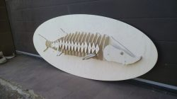 fish skeleton file cdr and dxf free vector download for Laser cut