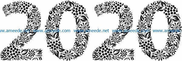 floral 2020 file cdr and dxf free vector download for print or laser engraving machines