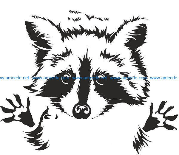 fox face file cdr and dxf free vector download for Laser cut