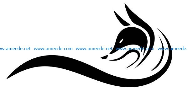 fox file cdr and dxf free vector download for print or laser engraving machines