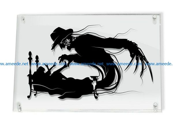 ghost file cdr and dxf free vector download for print or laser engraving machines