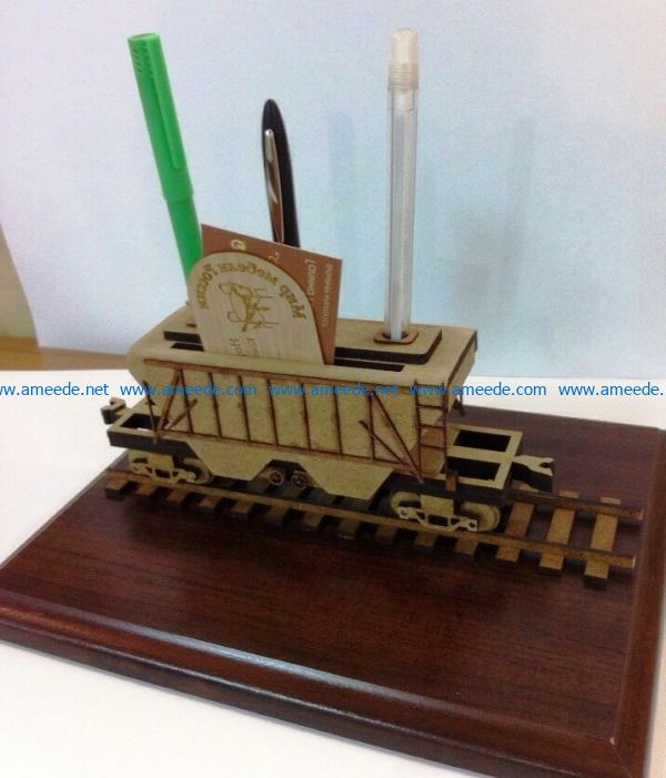 grain carrier wagon pencil holder file cdr and dxf free vector download for Laser cut