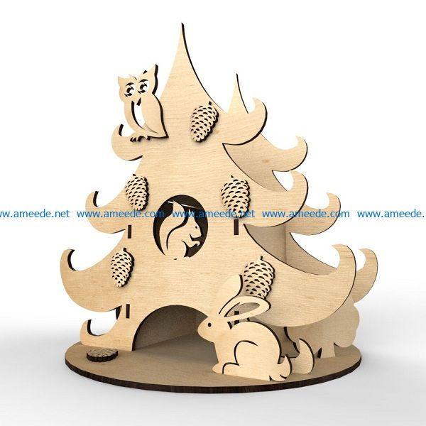 hardcover pine tree file cdr and dxf free vector download for Laser cut
