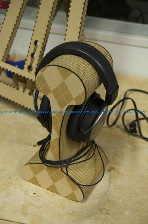 headphone tray file cdr and dxf free vector download for Laser cut