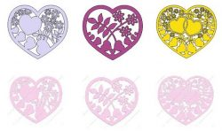 heart shape file cdr and dxf free vector download for print or laser engraving machines