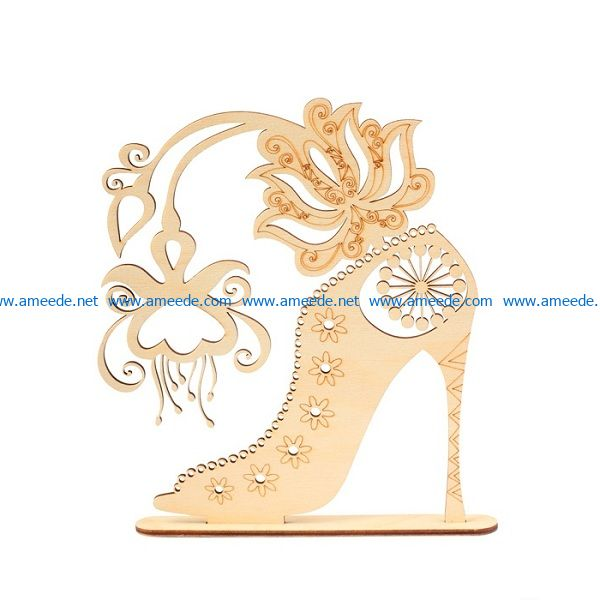 high heel file cdr and dxf free vector download for print or laser engraving machines