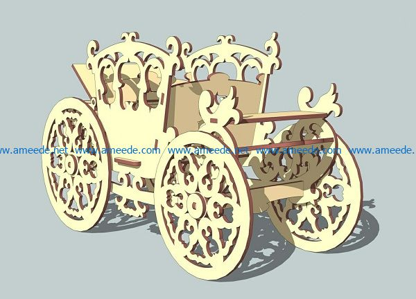 horse wagon file cdr and dxf free vector download for Laser cut