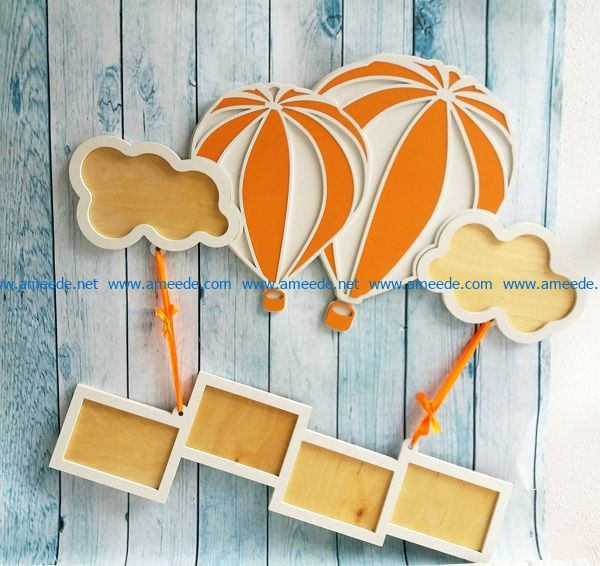 hot air balloon file cdr and dxf free vector download for Laser cut