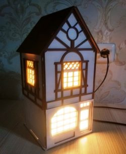 house night light file cdr and dxf free vector download for Laser cut