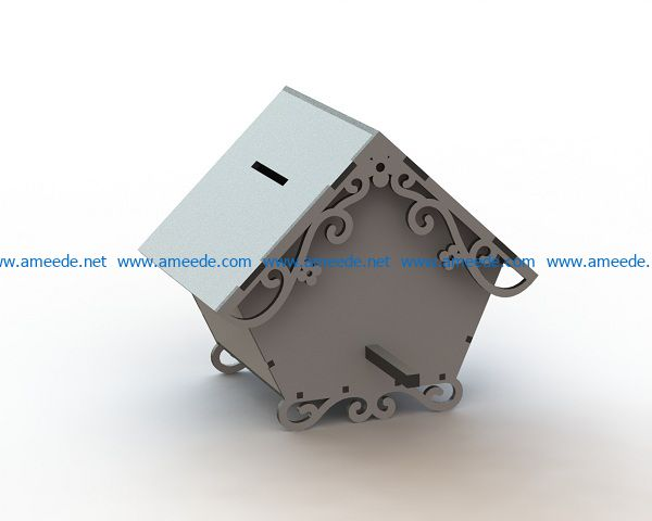 house shaped money file cdr and dxf free vector download for Laser cut