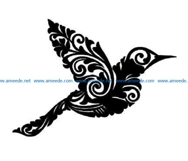 hummingbirds file cdr and dxf free vector download for print or laser engraving machines