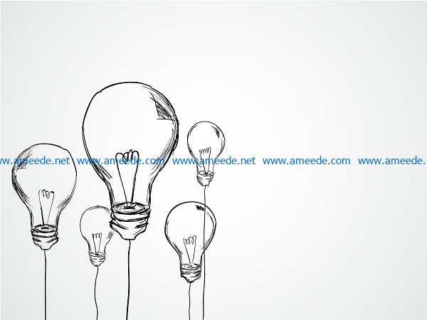 incandescent bulbs file cdr and dxf free vector download for print or laser engraving machines