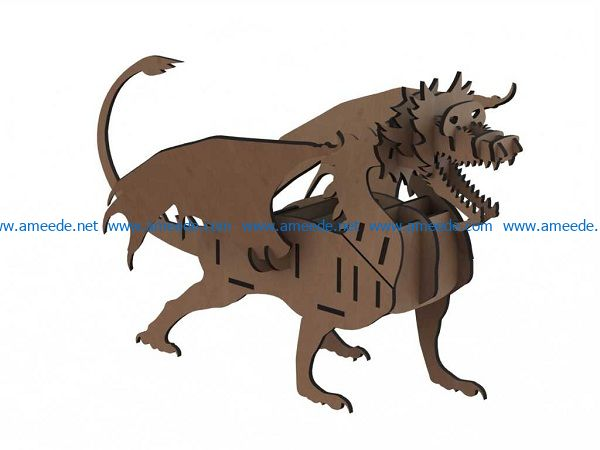lion with wooden puzzle file cdr and dxf free vector download for Laser cut