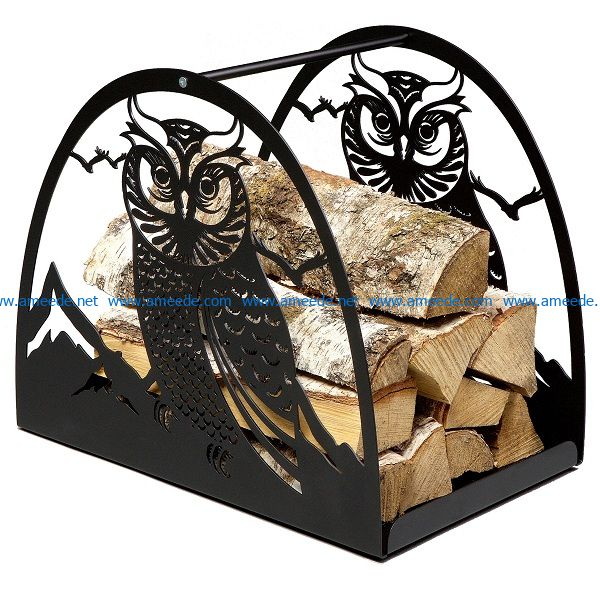log and owl file cdr and dxf free vector download for Laser cut