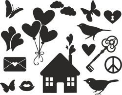 love vector set file cdr and dxf free vector download for print or laser engraving machines