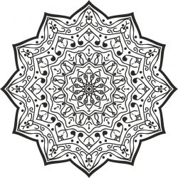 luxury mandala design file cdr and dxf free vector download for print or laser engraving machines