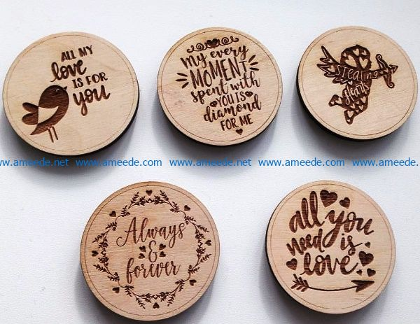 magnets engraving file cdr and dxf free vector download for laser engraving machines
