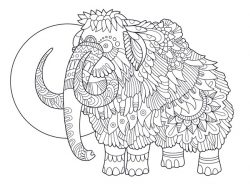 mammoth file cdr and dxf free vector download for print or laser engraving machines