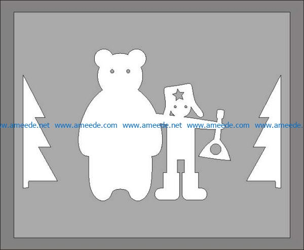 medved koresh file cdr and dxf free vector download for print or laser engraving machines