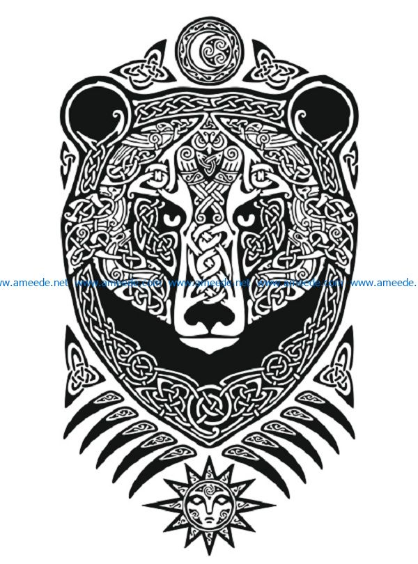 mishka file cdr and dxf free vector download for print or laser engraving machines