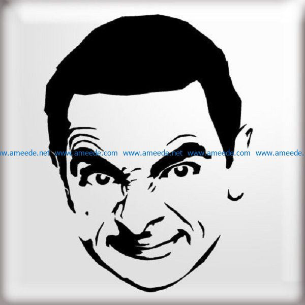 mr bean file cdr and dxf free vector download for print or laser engraving machines