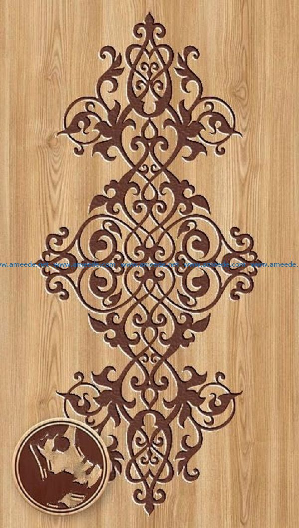 ornament file cdr and dxf free vector download for Laser cut