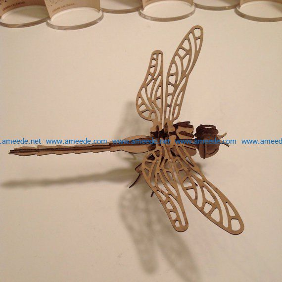 paperback dragonfly file cdr and dxf free vector download for Laser cut