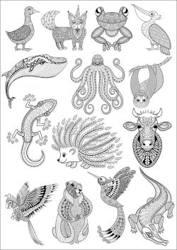 pattern animals file cdr and dxf free vector download for print or laser engraving machines