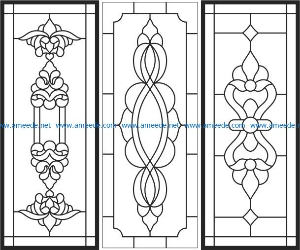 pattern of glass windowfile cdr and dxf free vector download for laser engraving machines