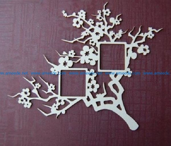 peach tree file cdr and dxf free vector download for print or laser engraving machines