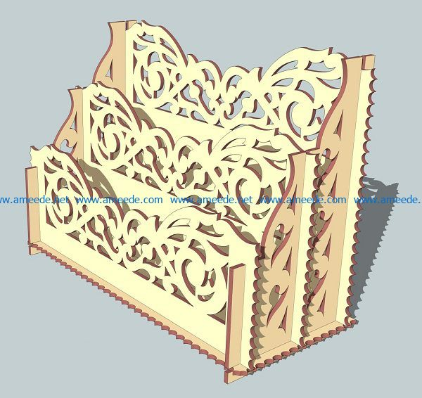 pen holder file cdr and dxf free vector download for Laser cut