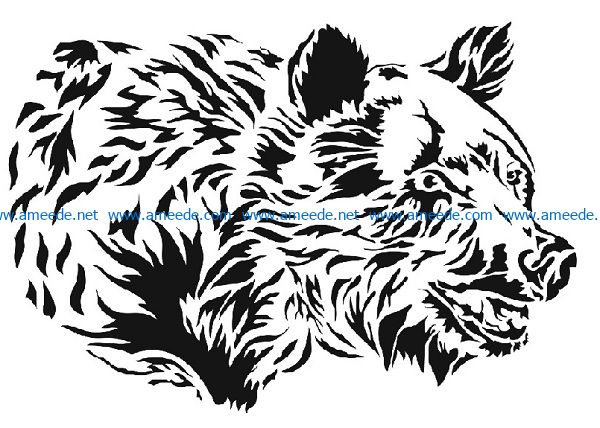polar bears file cdr and dxf free vector download for print or laser engraving machines