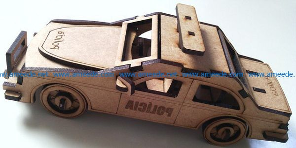 police car file cdr and dxf free vector download for Laser cut