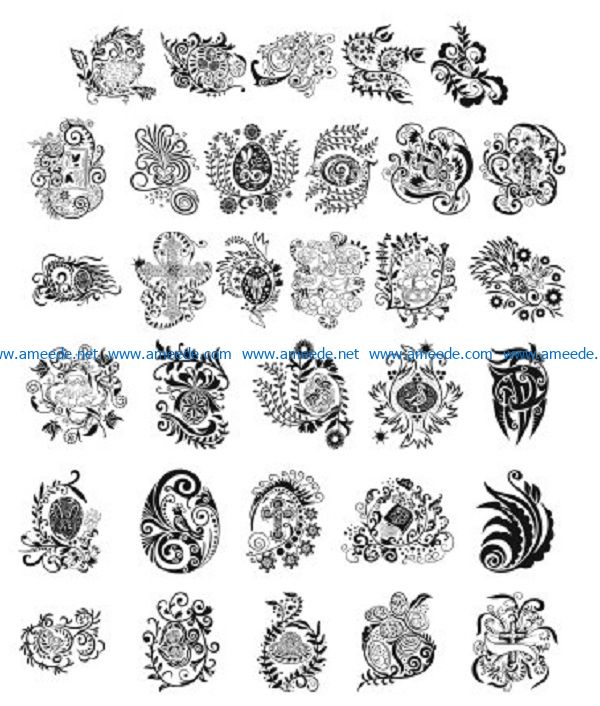 resurrection pattern file cdr and dxf free vector download for print or laser engraving machines
