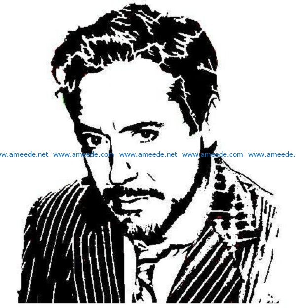 robert_downer_jr_by_master0monster file cdr and dxf free vector download for print or laser engraving machines